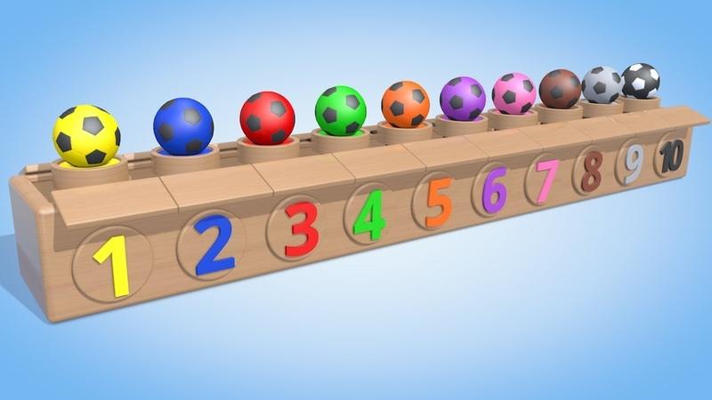 Обучающий мультик для детей Цветные мячики Учимся считать от 1 до 10 Паровозик Олли » Мир HD Tv - Смотреть онлайн в хорощем качестве