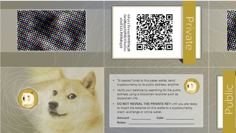 How To Make Paper Wallet Of Dogecoin | Paper Wallets Explained