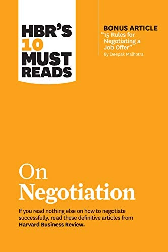 HBRs 10 Must Reads on Negotiation