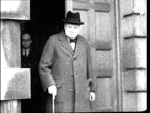 Winston Churchill And Sir Dudley Pound  (1940)