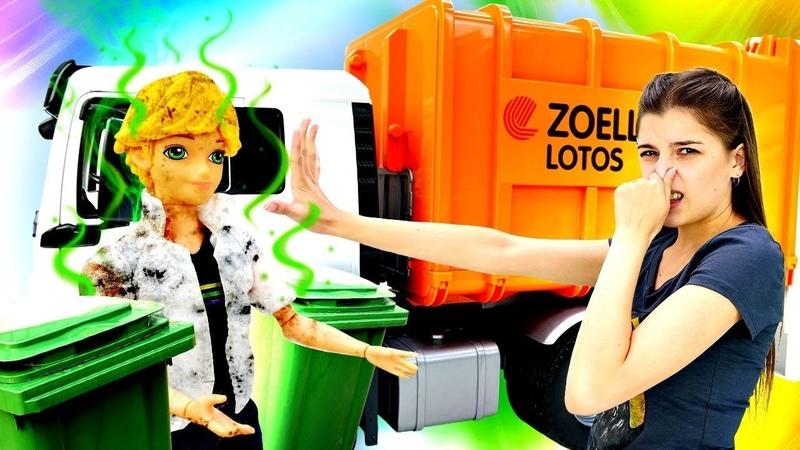 Адриан ищет Маринетт на свалке Мультик с куклами Леди Баг Ищем игрушки ToyClub