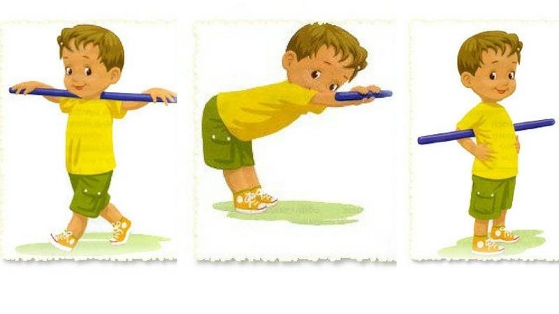 Зарядка с гимнастической палкой №1 для детей Школьный лагерь Патриот Кадетская школа Ермолова
