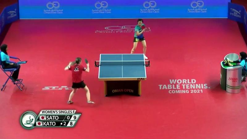 Hitomi Sato vs Miyu Kato 2020 ITTF Oman Open Highlights Final