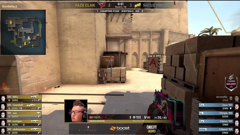 NaVi Zeus 4k Eco Clutch with Insane Footwork vs FaZe Map2 Mirage ELEAGUE Major 2018 Semi Final