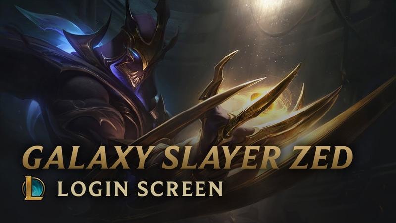 Galaxy Slayer Zed Login Screen League of Legends
