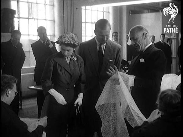 Selected Originals Nottingham Lacemakers Meet The Queen Aka Queen In Nottingham 1955