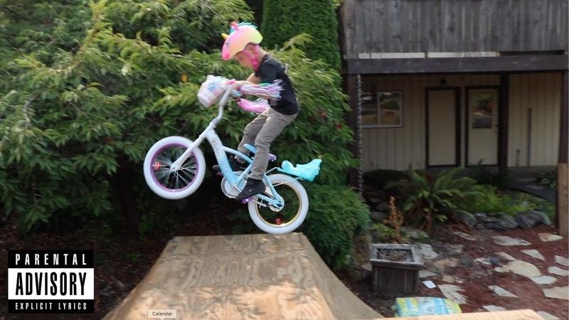 7 Yr Old Boy Kills It On Girl Princess Walmart Bike! My Bikes Too Lit @CaidenBmx