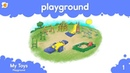 Playing on the Playground - Toys Vocabulary Chant by ELF Learning