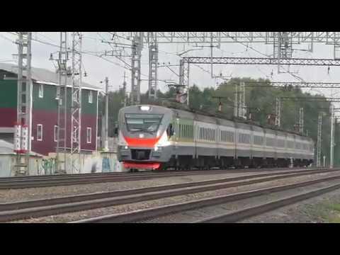 Электропоезд ЭП2Д 0043 ЦППК ТЧ 3 пригородный поезд № 6408 6407 Нахабино Львовская