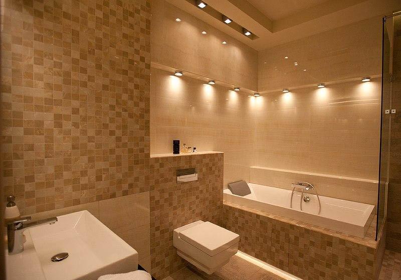 Освещение в ванной комнате 6 кв.м.