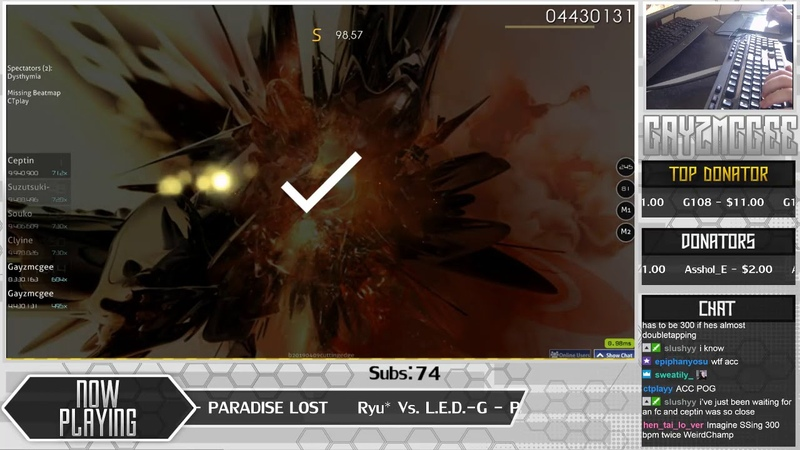 Live 300BPM Gayzmcgee Ryu* Vs L E D G PARADISE LOST Another 1st DT FC 98 77% 23 555pp