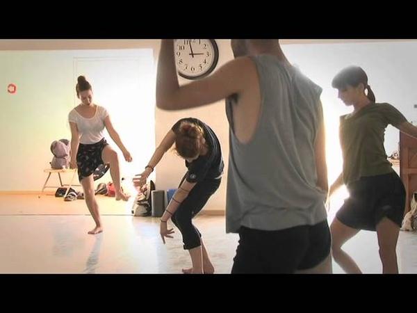 Gaga training and groove at Batsheva Ensemble