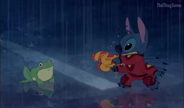 Lilo and Stitch except Stitch is voiced by Dio Brando · coub, коуб