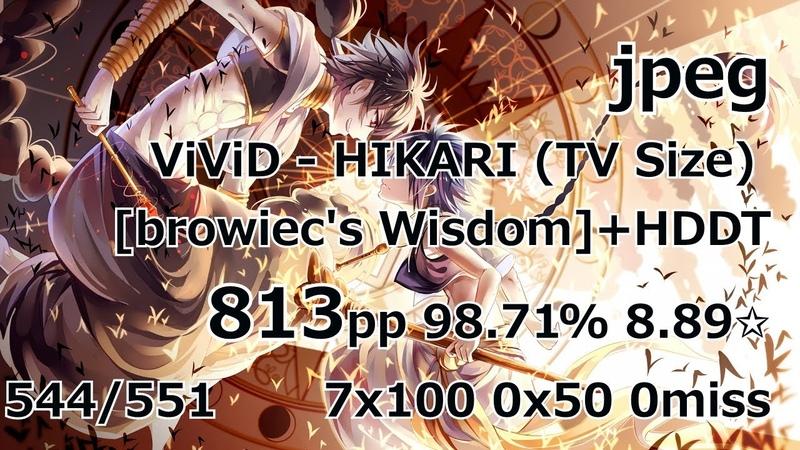 LIVEplayjpeg | ViViD - HIKARI (TV Size) [browiecs Wisdom] HDDT | 813pp 98.71 8.89✩
