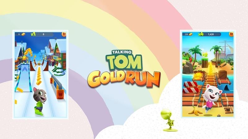 1703 Talking Tom Gold Run Video Game Logo Spoof Pixar Lamps Luxo Jr