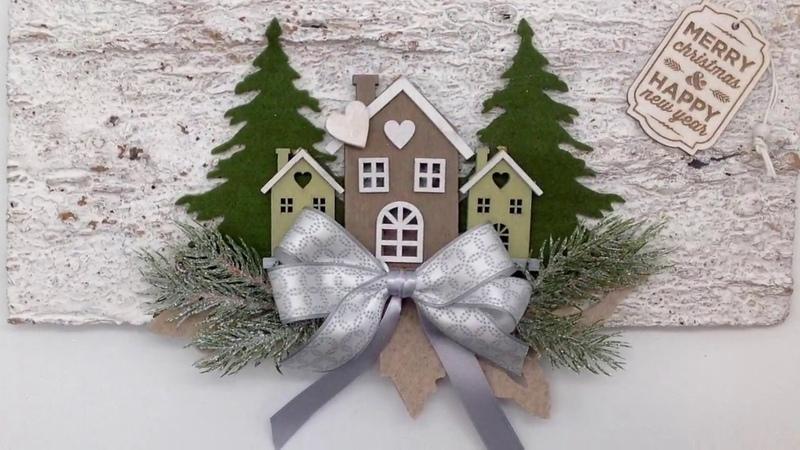 Decorazione natalizia Creattiva handmade tutorial Christmas fustelle fuoriporta