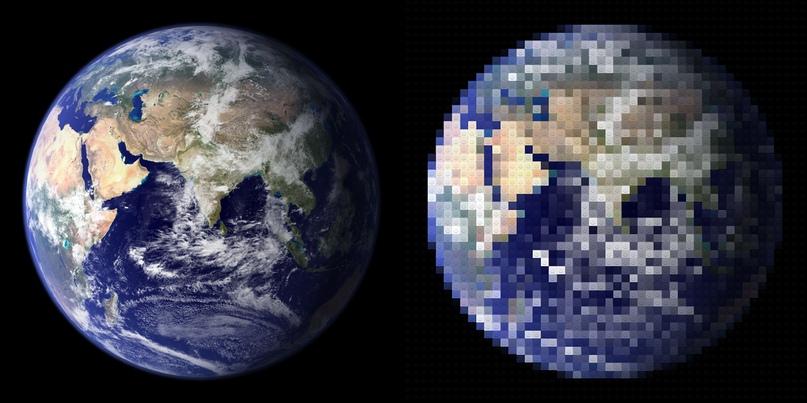 НАСА Фото Земли - (50 столбцов)