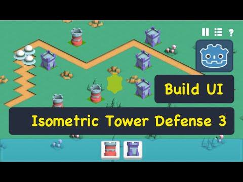Build UI Isometric Tower Defense Godot 3.1 Tutorial