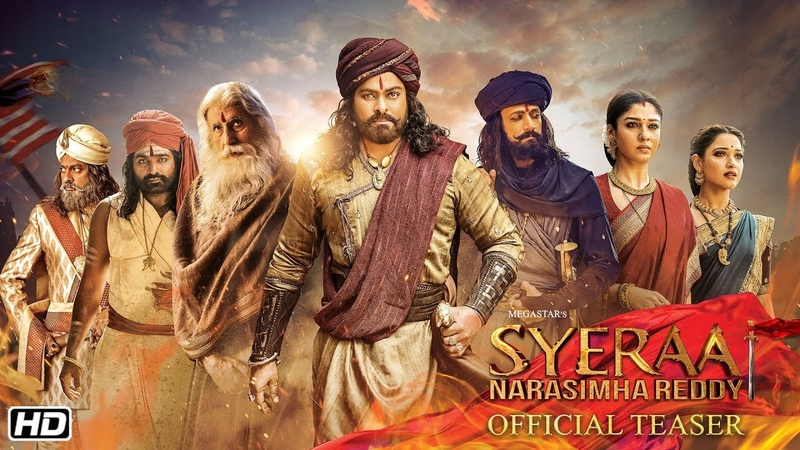 Sye Raa Teaser Hindi Chiranjeevi Amitabh Bachchan Ram Charan 2nd Oct
