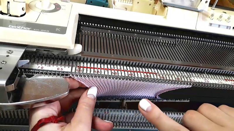 Вязание подгиба на вязальной машине