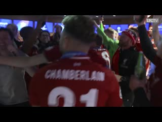 Inside the dressing room for liverpool's champions league winning celebrations
