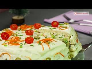 Фантазия на тему торта! Яркий, сытный и вкусный тортик для праздничного стола