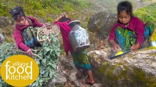 nepali food sisno and dido cooking and eating || village food kitchen ||