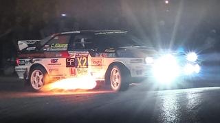 Christof Klausner Show at RallyLegend! Audi Ur-quattro 2-Steps Launches, Burnouts & Flames!