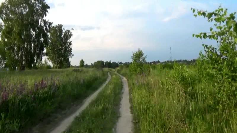 Вело прогулка по просёлочной дороге