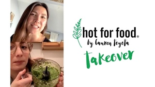 making kale pesto with Becca from Brooklyn | Ep #2 #hotforfoodtakeover