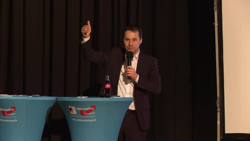 Volksentscheide mehr direkte Demokratie Jochen Haug AfD Bürgerdialog in Dorsten 17 09 1080p 30fps H264 128kbit AAC
