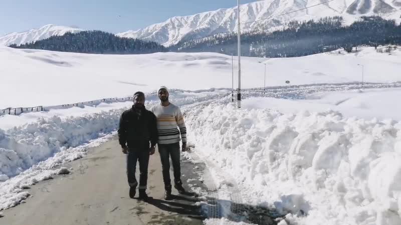 Снегопад в Гульмарг Кашмир