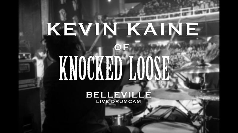 Kevin Kaine of Knocked Loose Belleville Live Drumcam SJC Custom Drums