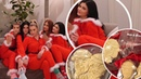 'Santa's Babies'🎅 Kylie Jenner slips into fur trimmed red onesie as she poses with her BFFs