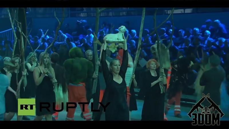 Satanistyczno masońska ceremonia otwarcia tunelu drogowego św Gotarda
