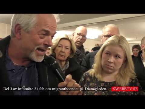 Del 3 av infomöte om Dianagårdens migrantboende - diskussion mellan medborgare.