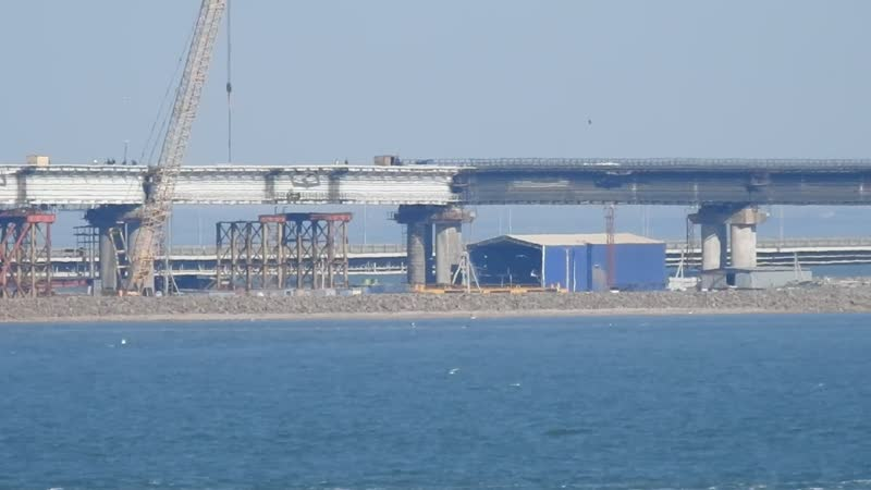 Крымский мост 5 УЧАСТОК На 5 участке все пролётные строения установлены в проектное положение УРА