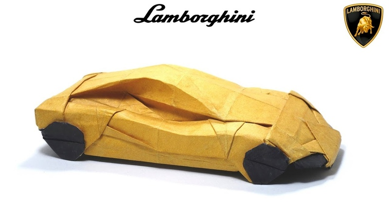 Origami Lamborghini tutorial Im Young Gwang 折り紙 スポーツカー sport car Automobile Cabriolet