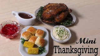 Thanksgiving Dinner #2; Corn, Rolls, Mashed Potatoes etc. Polymer Clay Tutorial