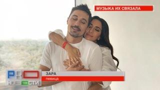 Зара и Дима Билан на съемках клипа (@PRO-новости, МУЗ-ТВ от )