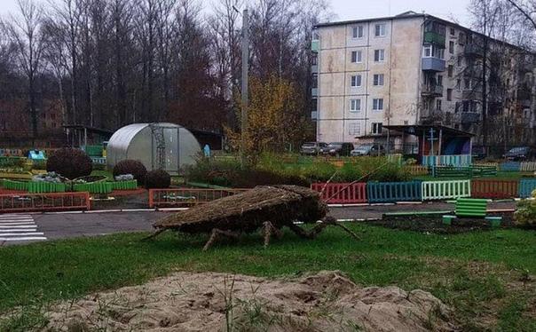 В Ярославле у детского сада установили двухметрового таракана