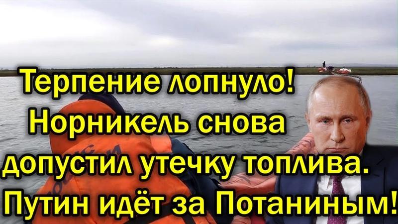 Терпение кончилось - Путин идёт за Потаниным, Норникель снова допустил утечку топлива!