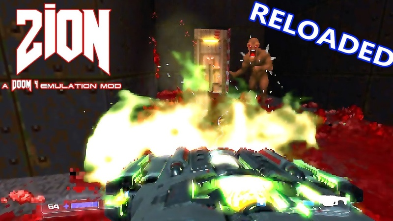 DOOM 4 in DOOM 2 Zion v08 Reloaded All Weapons Mod Sound Fix Bloom Effect