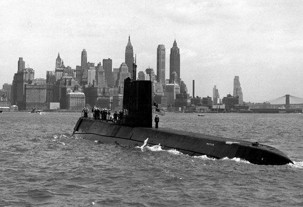 """Подводная лодка """"""""Наутилус"""", Нью-Йорк, 1956 год."""