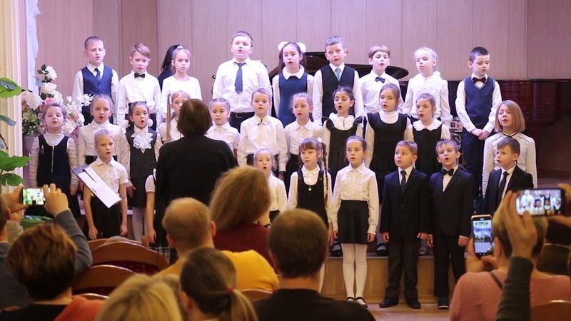 ДМШ №34 Красное Село 1 класс хор. Рождественская песня, Зарицкая