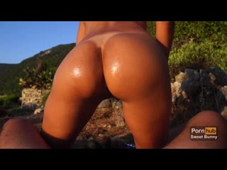Sweet bunny - anal sex at sunset on a public beach - amateur sweet bunny
