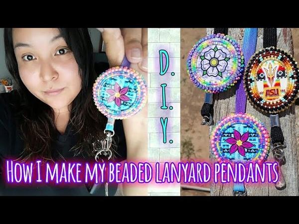 How I make my BEADED LANYARD PENDANTS