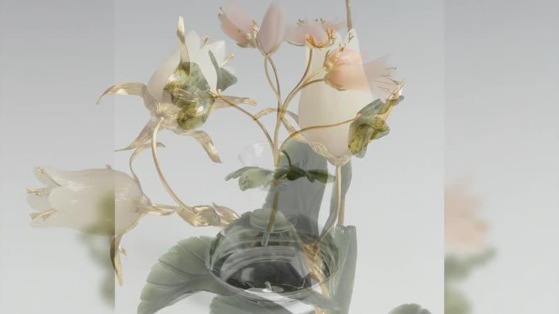 Подборка весенних цветов из нашей коллекции камнерезного искусства