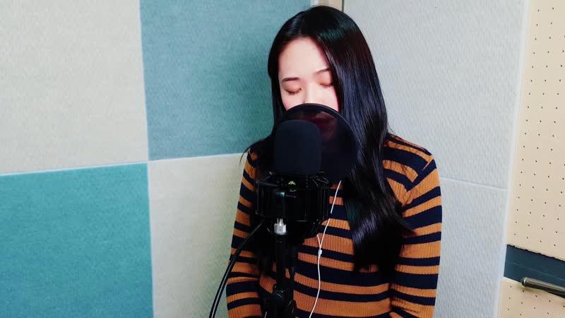 Predebut 180223 Kim Eunji Sorry Not Sorry cover Demi Lovato @ STL ENT's V Live