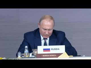 Заключительное слово на пленарном заседании саммита Россия  Африка